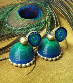 Eco earrings-Quilled earrings,paper earrings, jhumka