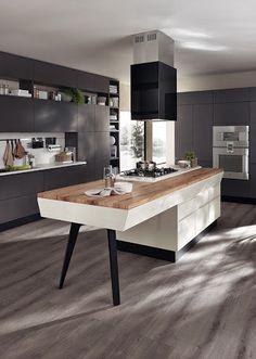 fabulous industrial style kitchen by scavolini & diesel, Hause ideen