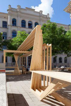 SCULPTURE / FESTIVAL CENTRE temorary installation in public space, Wiener Festwochen Vienna, 2014