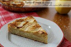 Torta di mele al cocco Ricetta dolce Alice nella cucina delle meraviglie