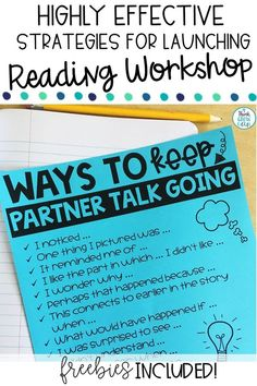 effective strategies for launching reading workshop, what is reading workshop? how do I start reading workshop? strategies for starting reading workshop in upper elementary classroom Reading Lessons, Reading Strategies, Guided Reading, Teaching Reading, Close Reading, Team Teaching, Partner Reading, Reading Tips, Reading Activities