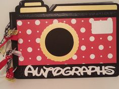 Disney Autograph Book & Photo Album Red and White by AllLayedOut, $27.00