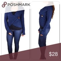 BlueCrop Sweater side button closure Really warm & comfy crop sweater with cute button closure Sweaters