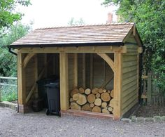 Log store and for bins Firewood Shed, Firewood Storage, Shed Storage, Log Shed, Bike Shed, Bin Store, Outside Storage, Pump House, Wood Store