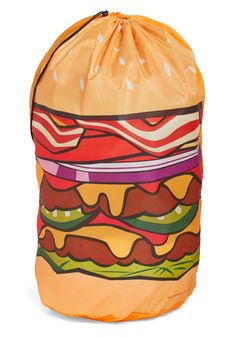 Hamburger Helpful Laundry Bag. Craving clean clothes? #multi #modcloth