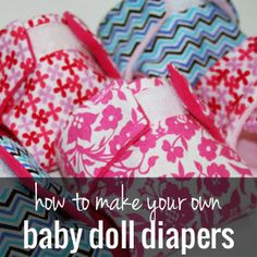 How to make cloth diapers for a baby doll | onelittleproject.com