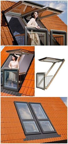 Dream home loft window The handmade DIY Interior DIY manual balcony clever use of space, the windows easily change balcony ~ Attic Rooms, Attic Spaces, Small Spaces, Attic Apartment, Attic Bedroom Kids, Men Apartment, Attic Playroom, Attic Bathroom, Loft Room