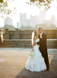 a bride in my dress in piedmont park!