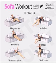 Quick and easy sofa ab workout