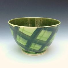 Green Serving Bowl Small Salad Bowl by AllisonGlickCeramics