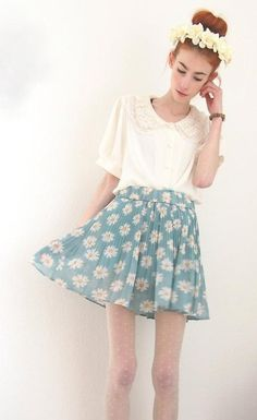 9265c6be8d7466 Floral Skirt Im So Fancy