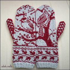 siiliste's Woodland mittens / Kindad - siiliste's Woodland mittens / Kindad motor/racefiets/golf/kornet/ naaister FAIR ISLE patroon Ravelry: siiliste's Woodland mittens / Kindad Knitted Mittens Pattern, Crochet Mittens, Knitted Gloves, Knit Or Crochet, Knitting Charts, Knitting Socks, Hand Knitting, Knitting Patterns, Ravelry