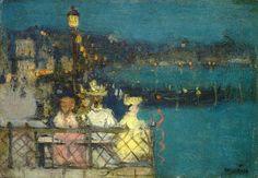 """James Wilson Morrice, Study for """"Venice Festival"""""""