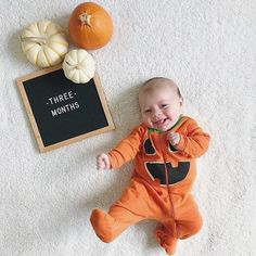 The Poet Oak When your realize it's t-minus eight days until candy is coming. (featuring our Poet Oak) : Halloween Baby Pictures, Photo Halloween, Baby First Halloween, Baby Halloween Costumes For Girls, Toddler Halloween, Fall Halloween, Fall Baby Pictures, Baby Boy Photos, Newborn Photos