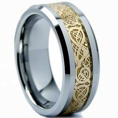 @Overstock.com - Men's Tungsten Carbide Gold Dragon Design Ring (8 mm) - These carbide gold tungsten rings are sure to become an everyday accessory for any modern man. They are stronger than titanium, so they are sure to stand the test of time, and the classic combination of silver and gold will suit you in every occasion.  http://www.overstock.com/Jewelry-Watches/Mens-Tungsten-Carbide-Gold-Dragon-Design-Ring-8-mm/6364673/product.html?CID=214117 $39.55