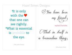 Children's Book Quotes No. 2  5x7  Set of 10 by hazelstreetdesigns, $15.00
