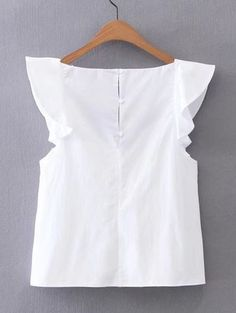 Shop V-Neckline Cap Sleeve Top online. SheIn offers V-Neckline Cap Sleeve Top & more to fit your fashionable needs. Pretty Outfits, Cute Outfits, Fashion Clothes, Fashion Dresses, Diy Kleidung, Cap Sleeve Top, Mode Chic, Blouse Styles, Casual Tops
