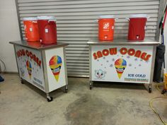Snow cone stand wraps by Fireblade Graphics and Signs. Like us on Facebook to see all our work and purchase decals from us.