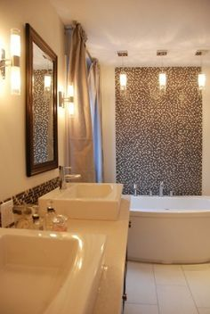 #Bathroom #Lighting : The Cylindrical Ones:Harmonious Sense Of Bathroom Lighting–royal Bathroom Lighting Design Ideas