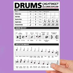 Drum Sheet Music, Drums Sheet, Drum Lessons, Music Lessons, Drum Rudiments, Drum Notes, How To Play Drums, Learn Drums, Drum Patterns