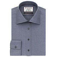 Derick Plain Super Slim Fit Button Cuff Shirt