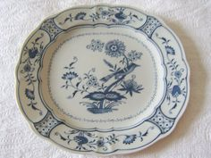 Blue and White Porcelain Oval  Platter by paperdoll43 on Etsy, $20.00