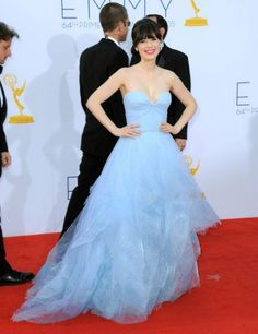 Reem Acra - Zooey Deschanel 2012 Emmy Awards