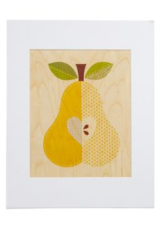 Amour-chard Print in Pear. @Stephanie Moore, this would be perfect for your kitchen! $16.99!