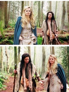 Regina and Emma as two peasant girls in the EF, only Emma was not in the EF when Regina was young!???  MANIP!