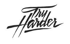 Try harder quotes typography