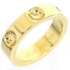 Louis Vuitton 18K Yellow Gold Petit Berg Empreinte Ring 4.75