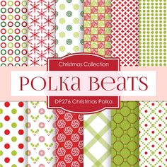 Christmas Polka Digital Paper DP276