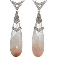 DEBORAH PAGANI  Pink Quartz Jerry Rock Earrings  $6,000.00