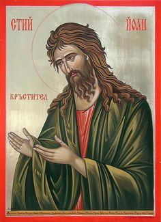 Sacred Orthodox Icons in Byzantine Style using Traditional Techniques of Egg Tempera. Icon Painting Courses and Workshops. Religious Images, Religious Icons, Religious Art, Christian Mysticism, Painting Courses, Byzantine Icons, John The Baptist, Orthodox Icons, Art