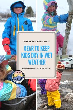 There is no bad weather, only bad clothing. Embrace the wet of spring with our top gear picks for kids. #kidsoutside #kidgear #spring #wet