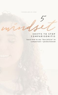 When it comes to learning how to stop comparisonitis, you can't just shake it off. Ignoring it is not an approach that's gonna work, I'm telling you straight up. But there are some actionable steps and mindset shifts that you can work through that will see you out on the other side of comparisonitis. Click through to read how I overcome perfectionism and comparing myself to others!