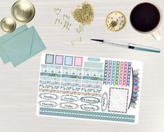 Pinning so I don't forget!! Remember to go back and check out Crafted By Corley on Etsy. Serenity Floral - Transform My Planner Erin Condren Vertical Planner Sticker Happy Planner Sticker Sticker Set Weekly View Sticker by CraftedByCorley