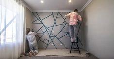 Το φανταστικό σχέδιο παζλ στον τοίχο και πώς να το κάνετε με μια ταινία!