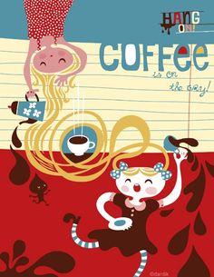 Coffee is on the way. limited edition giclee print of an original illustration x coffee is on the way. limited edition giclee print of an original illustration x via Etsy Sweet Coffee, I Love Coffee, My Coffee, Coffee Shop, Coffee Cups, Coffee Lovers, Coffee Talk, Coffee Girl, Coffee Break