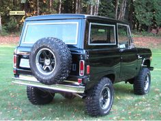 Restored Classic Ford Bronco - Black on Black LUBR build