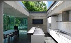 open roofed kitchen sunroof