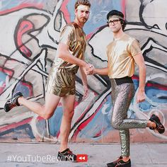 YouTube rewind! I hope that in the 2015 rewind they would get a better part. Their part went by so fast, I did not even realize it was them!