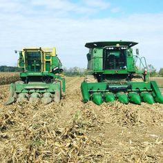 Old Tractors, John Deere Tractors, Agriculture, Farming, John Deere Combine, Combine Harvester, Future Farms, Old Farm Equipment, Down On The Farm