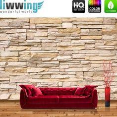 backstein ziegeltapete rot vlies fototapete quadrat. Black Bedroom Furniture Sets. Home Design Ideas
