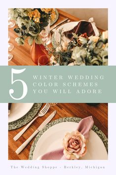 Are you considering having a Winter wedding? Check out these 5 Winter wedding color Schemes You Will Adore! Brought to you by the Bridal Experts at The Wedding Shoppe in Detroit, Mi Wedding Themes, Wedding Designs, Wedding Ideas, Wedding Decorations, Wedding Dresses, Winter Wedding Receptions, Winter Weddings, Winter Wedding Colors, Wedding Shoppe