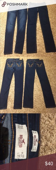 Hollister Jeans Sz: 5S Hollister Jeans size 5S, faded print pair is       W: 27 L: 29 other pair is W:27 L:31 Hollister Jeans Skinny