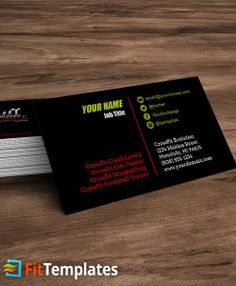Zumba or dance studio business card template from fittemplates crossfit affiliate business card template from fittemplates reheart Gallery