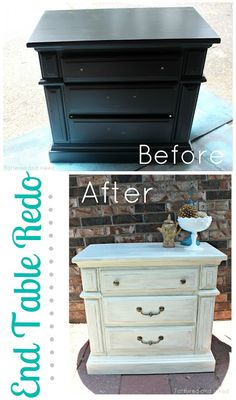 Tattered and Inked: End Table Redo