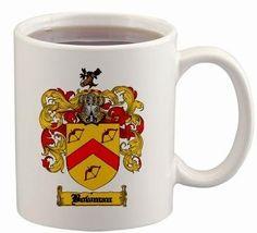 $15.99 Bowman Coat of Arms Mug / Family Crest 11 ounce cup