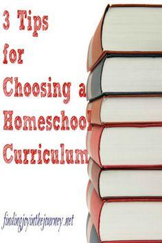 3 Tips for Choosing a homeschool curriculum